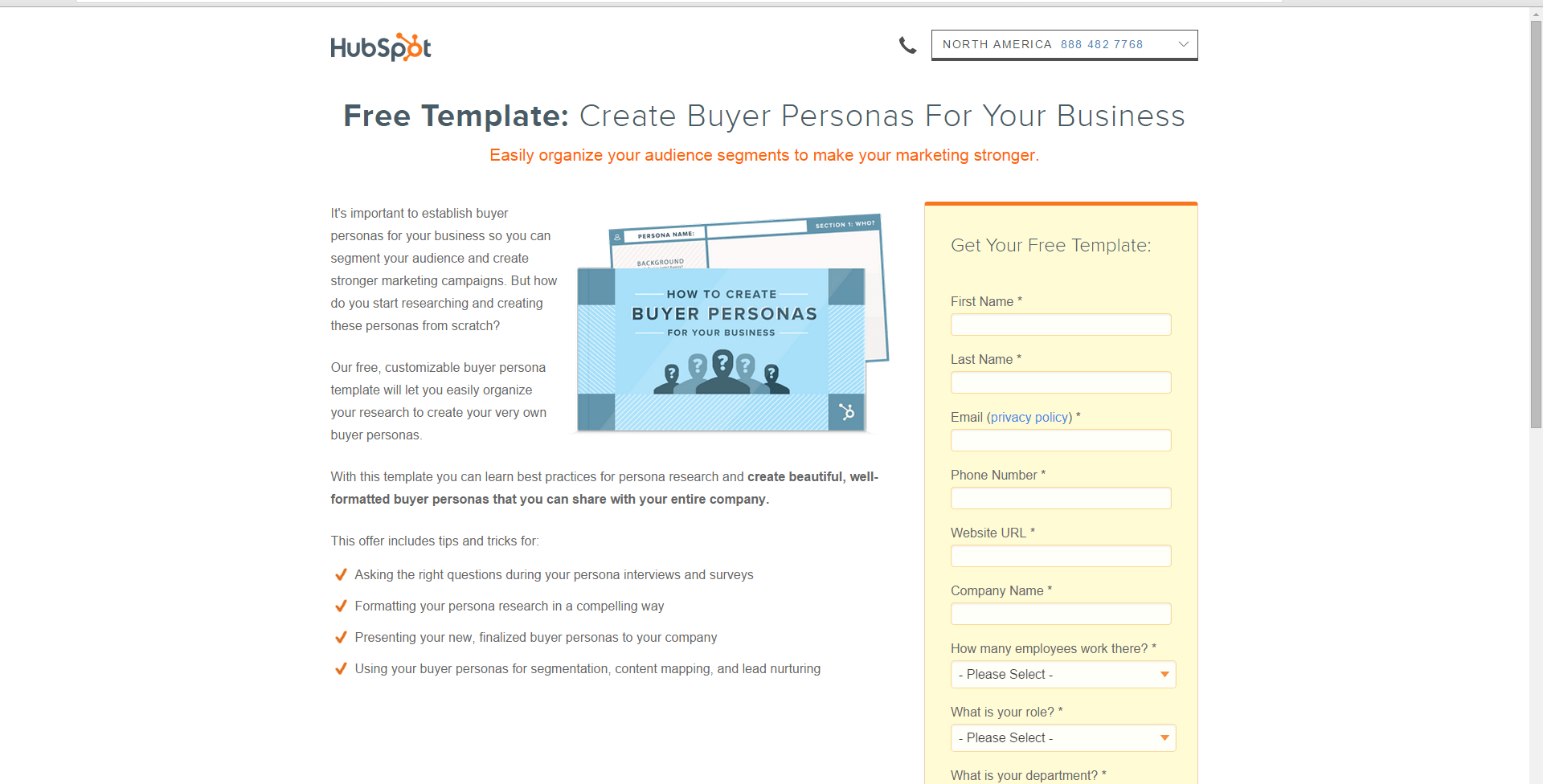 buyer persona template hubspot