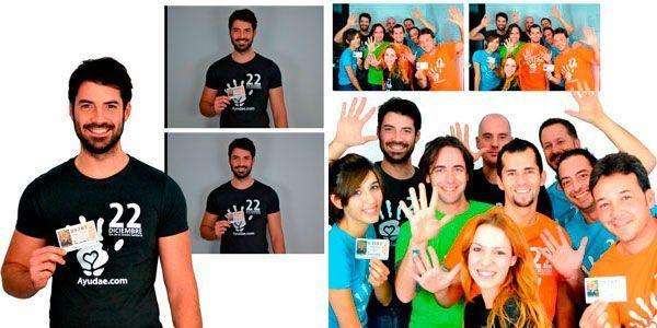 Making Off fotos del equipo Ayudae y colaboradores