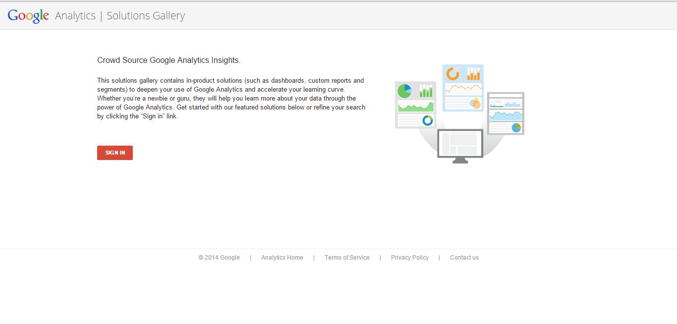 google analytics solutions gallery