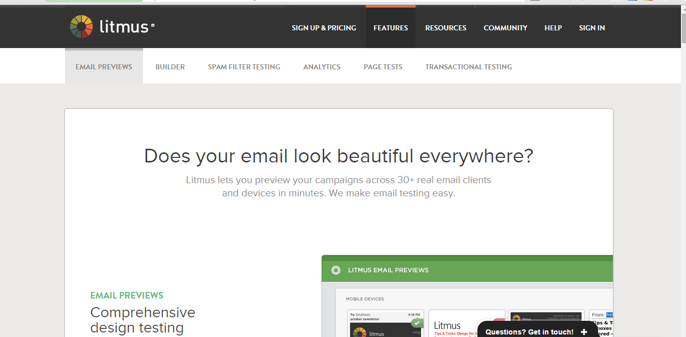 litmus email checker