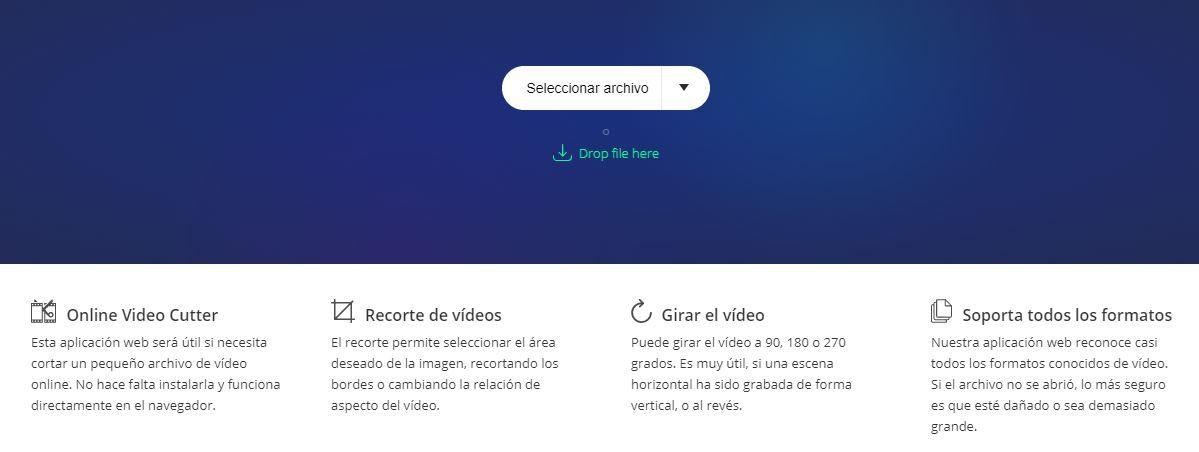 cortar video online