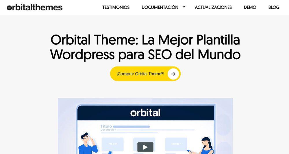 OrbitalThemes.net. Web realizada con el tema Orbital
