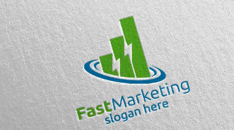 FastMarketing - Plantilla de Logotipo para Agencia de Mercadotecnia