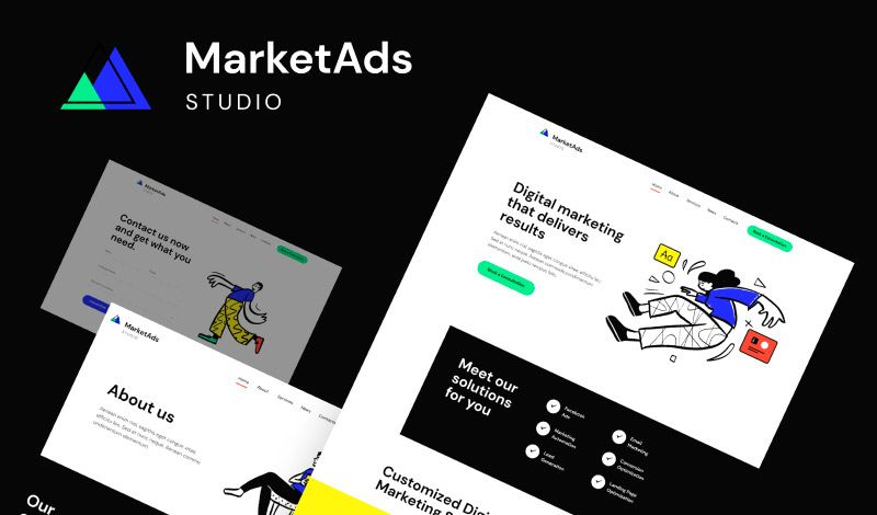 MarketAds - Tema WordPress para Sitio de Agencia de Marketing Digital