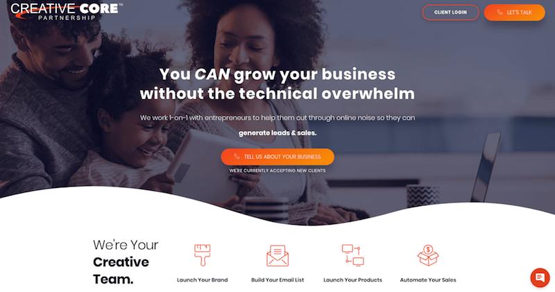 Página web de Creative Core